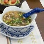 たっぷりきのこの春雨スープ