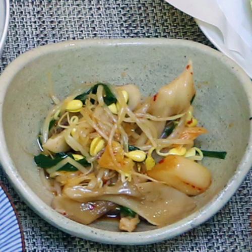 キムチと豆もやしのナムル