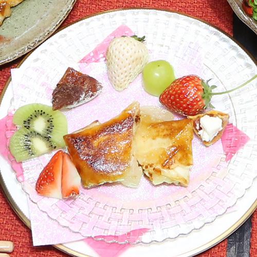 フルーツ王国山梨のデザート春巻き